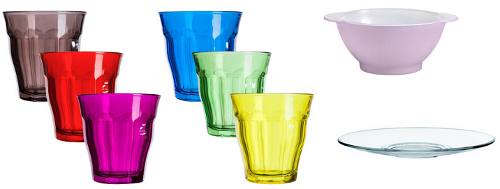 Duralex Glaswaren, Geschirr und Frischhaltedosen bei Vente Privee