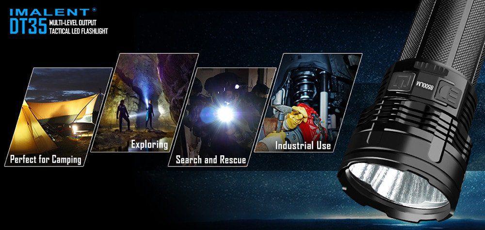 IMALENT DT35   8500 Lumen LED Taschenlampe für 100,04€ (statt 275€)