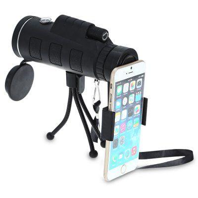 Monokular (40x60mm) mit Stativ für das Smartphone für 8,41€