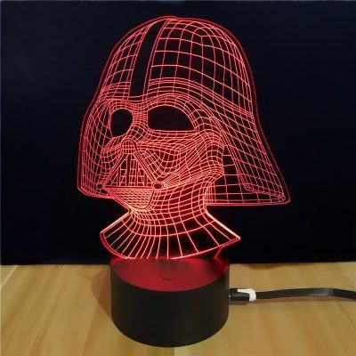 Darth Vader 3D LED Lampe in mehreren Farben ab 5,02€