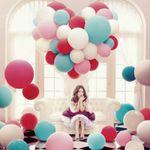 Großer Luftballon (1m Durchmesser) in Rot für 0,83€