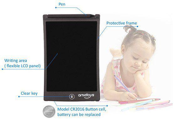 Ametoys 8,5 LCD Schreib  und Mal Tablet für 7,55€