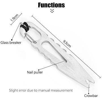 FURA EDC Tool mit 4 Funktionen (Karabiner, Brecheisen, Nagelzange & Glasbrecher) für 2,64€