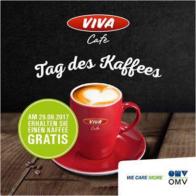 NUR HEUTE: Gratis Tasse Viva Kaffee an OMV Tankstellen