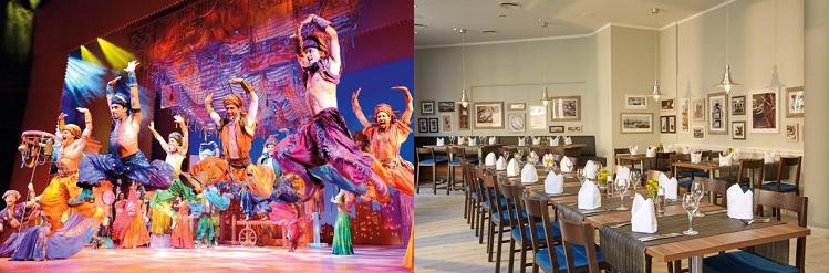 1   2 ÜN im 4* Hotel in Hamburg inkl. Musical Ticket für Aladdin, Frühstück und Spa Nutzung ab 99€ p. P.