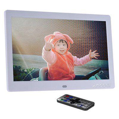Andoer 10 LCD Bilderrahmen (1024x600) mit Uhr, MP3, MP4 & Fernbedienung für ~34€ (statt 57€)