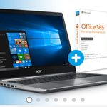 ACER Swift 3 – 15,6 Notebook mit i5, 128GB SSD, 1TB HDD + Win 10 + Office für 739€