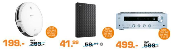 Saturn Super Sunday Deals: SEAGATE Expansion Portable Rescue 1 TB HDD für 41,99€
