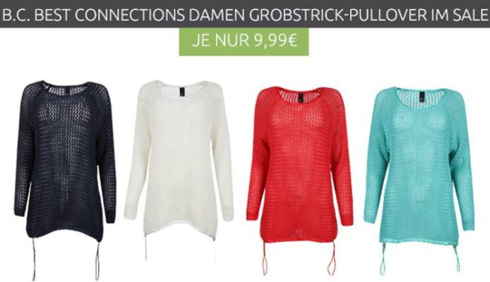 B.C. Best Connections Damen Grobstrick Pullover statt 18€ ab je 9,99€