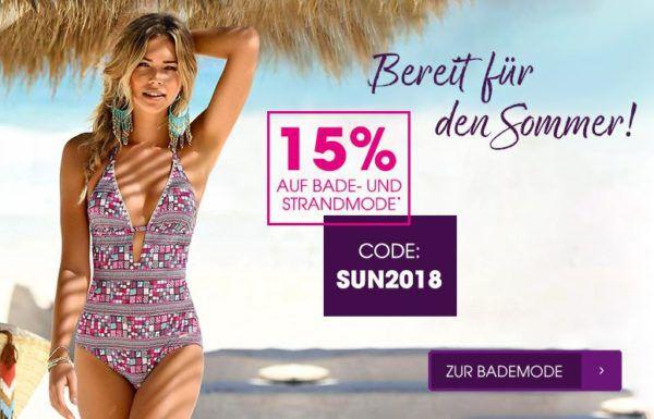 Lascana mit 15% Rabatt auf Damen Bade  und Strandmoden bis Mitternacht