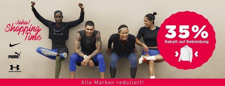 MySportswear: 35% auf Bekleidung von adidas, Nike und Co. + keine VSK