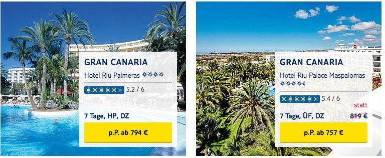 RIU Hotels ab 299€ bei TUI buchen und 100€ pro Person (!) auf Pauschalreisen sparen
