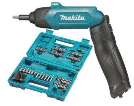 Makita DF001DW Akku Knickschrauber 3,6V + 81 tlg. Zubehör für 49,90€ (statt 67€)