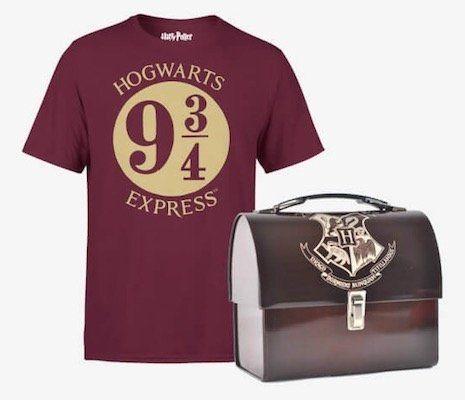Harry Potter T Shirt mit Harry Potter Metalkoffer (Lunchbox) für 17,99€ (statt 33€)