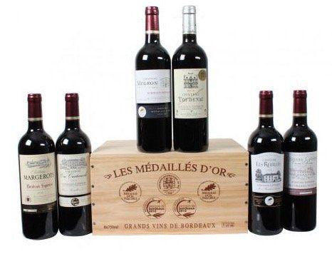 Wein Pakete mit Holzkiste ab 43,89€
