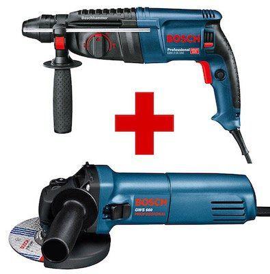 Bosch Professional Set   Bohrhammer GBH 2 26 DRE & Winkelschleifer GWS 660 für 142,48€ (statt 215€)