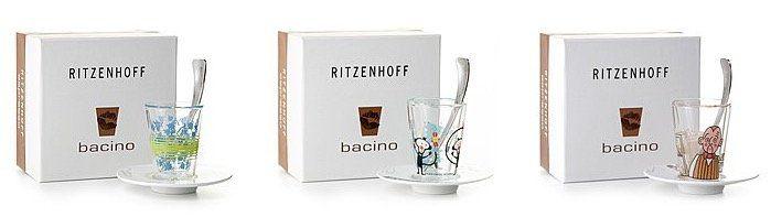 Ritzenhoff Sale bei brands4friends   z.B. Espressoglas mit Untertasse und Edelstahllöffel ab 9,99€