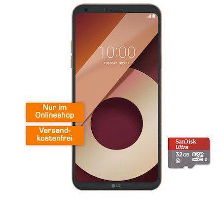 LG Q6 Smartphone + 32GB Speicherkarte für 1€ + Vodafone Smart Surf mit 50 Min/SMS + 2GB für 14,99€ mtl.