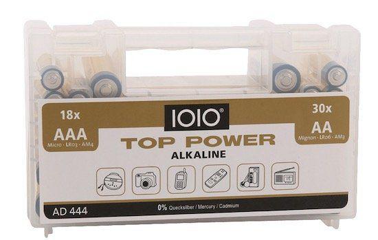 Olympia AD 444 AA, AAA Alkaline Batterie Set (48 Stück) für 4,99€