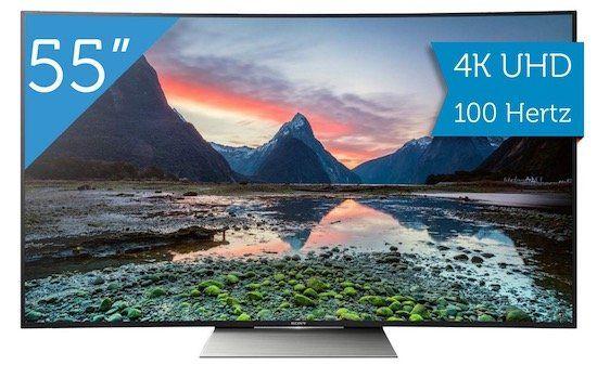 Sony KD 55SD8505   55 Zoll Curved 4K Fernseher für 908,90€ (statt 1.028€)