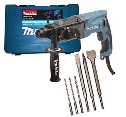 Vorbei! Makita HR2470 Bohrhammer für SDS Plus 24 mm + 6 teiligem Bohrer /Meissel Set für 107,99€ (statt 132€)