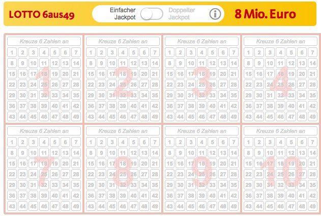 2 Tipps Lotto 6aus49 für 2 Ziehungen (!) (8 Mio. Jackpot) + 10 Rubbellose für nur 0,49€   nur Neukunden