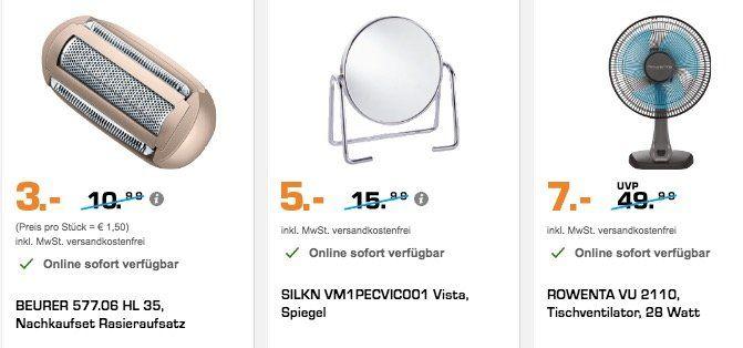 Schnell! Saturn Blitzangebote   z.B. Wurstklemme nur 1€ oder Elektrogrill nur 12€