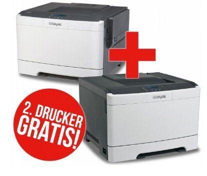 Knaller! Lexmark CS310dn Farblaserdrucker für 79€ + 2. Drucker GRATIS!