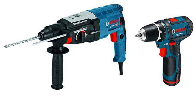 Bosch Professional SDS plus GBH 2 28 F Bohrhammer + GSR 10,8 2 LI Akku Bohrschrauber für 203,88€ (statt 284€)
