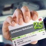 Jubiläums-Bahncard 25 (2. Klasse) für 25€ (statt 62€) – 1. Klasse nur 50€!