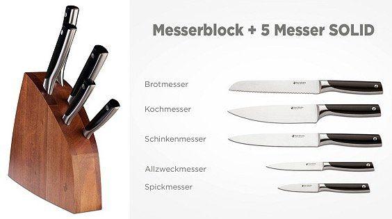 Paul Wirths Messer und Blöcke bei vente privee   z.B. 31,5 cm Santokumesser ab 79,90€ (statt 115€)