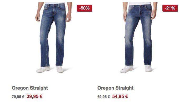 20% auf Mustang Herren Straight Leg Jeans und Damen Slim Fit Jeans + VSK frei