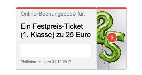 Deutsche Bahn 1. Klasse Fahrten deutschlandweit für nur 25€   nur für Bahncard Kunden