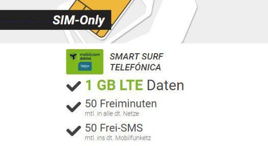 Abgelaufen! o2 Smart Surf mit 50 Einheiten + 1GB LTE für 2 Jahre komplett GRATIS!