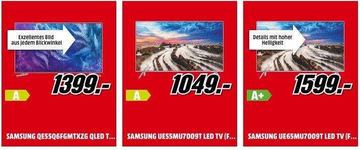 Media Markt Technik Deals   z.B. Panasonic TX 55EXW584 Fernseher für 699€ (statt 999€)