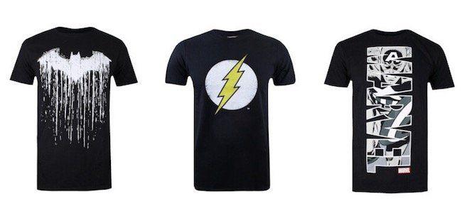 Marvel und DC Klamotten Sale bei vente privee   z.B. Batman Paint T Shirts für 12,99€