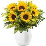 XXL Sonnenblumen-Strauß mit max. 60cm Länge für 21,98€