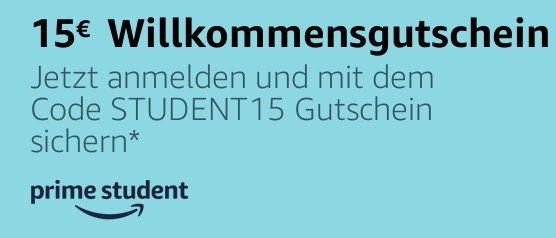 Amazon Prime Student: 12 Monate Prime gratis + 15€ Gutschein (40€ MBW)   nur für Studenten!