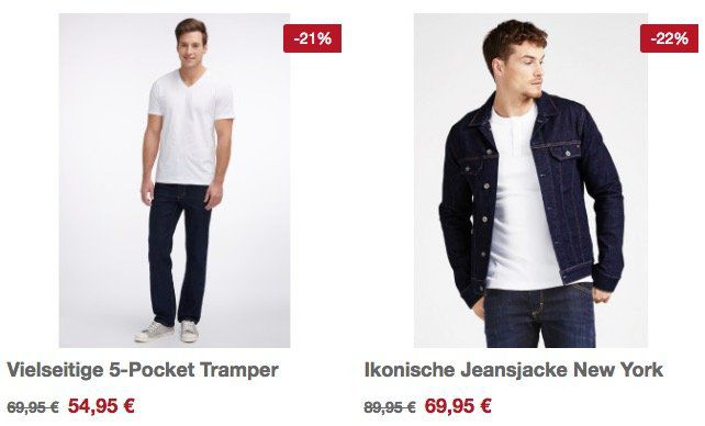 20% auf Mustang Jeans + gratis Lederarmband   z.B. Mustang Tramper Jeans im Basic Design für 47,91€ (statt 70€)
