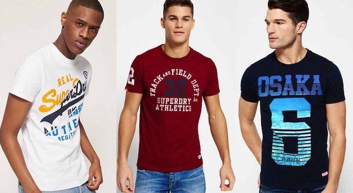 Superdry Herren T Shirts   neue Modelle von XS bis XXL für 12,95€