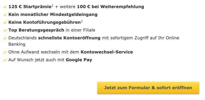 Kostenloses Girokonto der Commerzbank + 125€ Startguthaben geschenkt + bis 100€ bei Weiterempfehlung