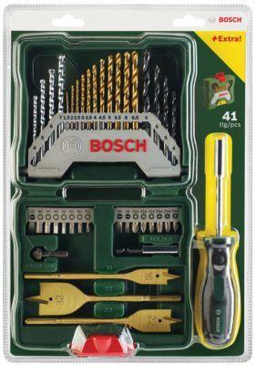 Bosch X Line TX PZ PH   Bit Satz 41 tlg. inkl. Metall u. Steinbohrer statt 20€ für nur 9,99€