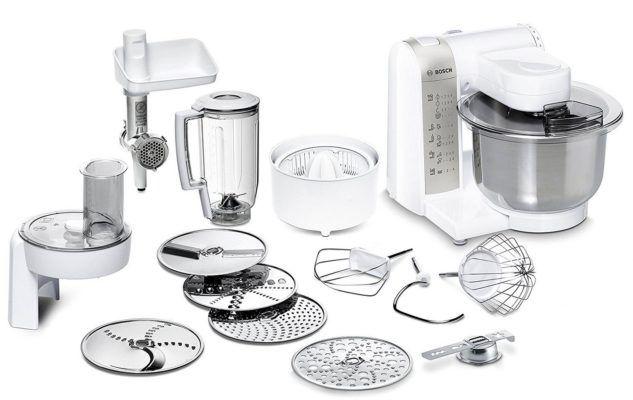 Bosch MUM48140DE Küchenmaschine mit reichlich Zubehör für 139,94€ (statt 155€)