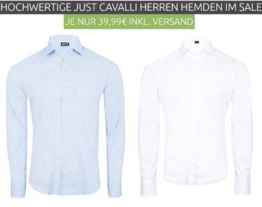 Just Cavalli Herren Langarm Hemd für je 39,99€