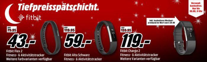 Media Markt Fitbit Tiefpreisspätschicht: günstige  Fintness & Actifity Tracker   z.B. Fitbit Alta für nur 59€