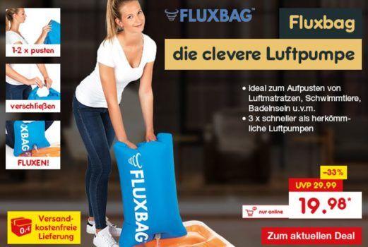 Fluxbag Luftpumpe aus der Höhle der Löwen für 19,98€