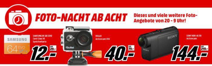 Media Markt Foto Late Night: günstige Action Cams, Drohnen und Zubehör