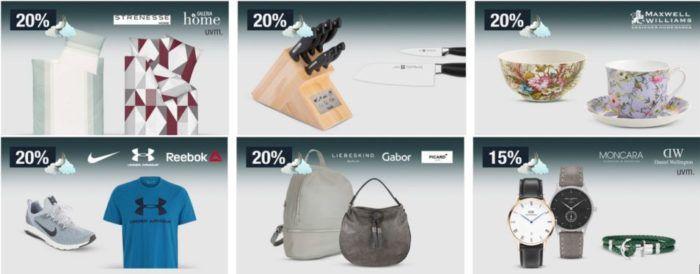20% Rabatt auf ausgewählte Herren  u. Kindermode, Messer & Co. uvm.   Galeria Kaufhof Mondschein Angebote