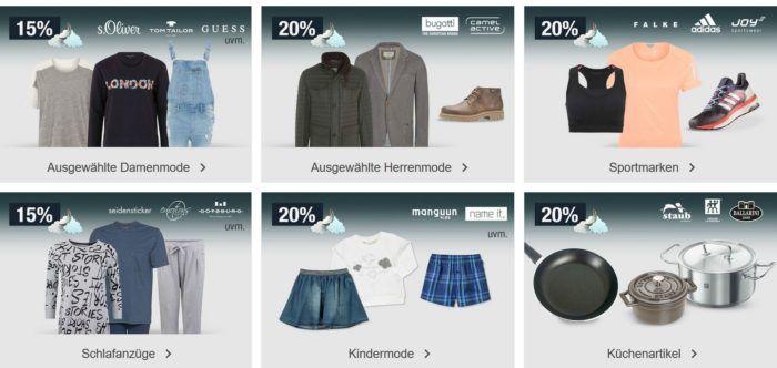 20% auf Küchenartikel, Uhren, Taschen Sportmarken uvm.   Galeria Kaufhof Mondschein Angebote