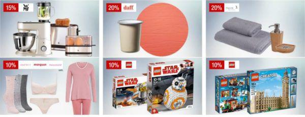 Galeria Kaufhof Sonntagsangebote   z.B. 15% Rum, Tequila & Wodka 10% auf LEGO Star Wars, Creator, Playmobil und vieles mehr